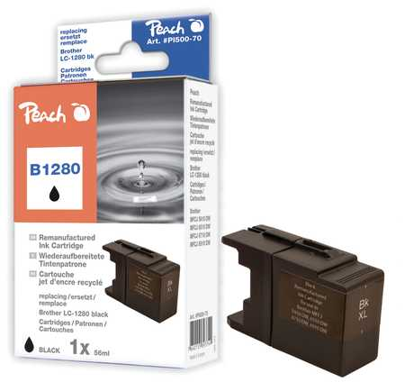 Peach  XL-Ink Cartridge black, compatible with ID-Fabricant: LC-1280, LC-1280 bk Brother MFCJ 6510 DW